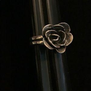Silpada Silver Flower Ring, size 8